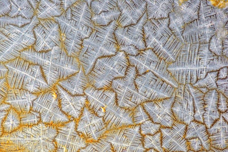 Teste padrão de cristal de sal fotos de stock