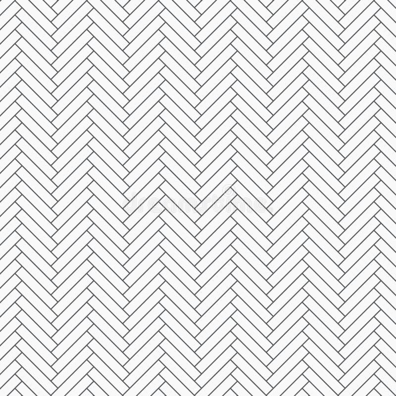 Teste padrão de desenhos em espinha O tessellation das lajes dos retângulos, repetindo com inclinação do branco obstrui a telha T ilustração royalty free