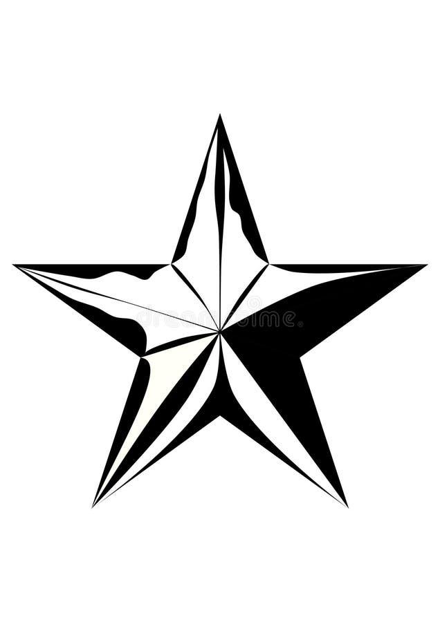 Teste padrão de estrela ilustração do vetor