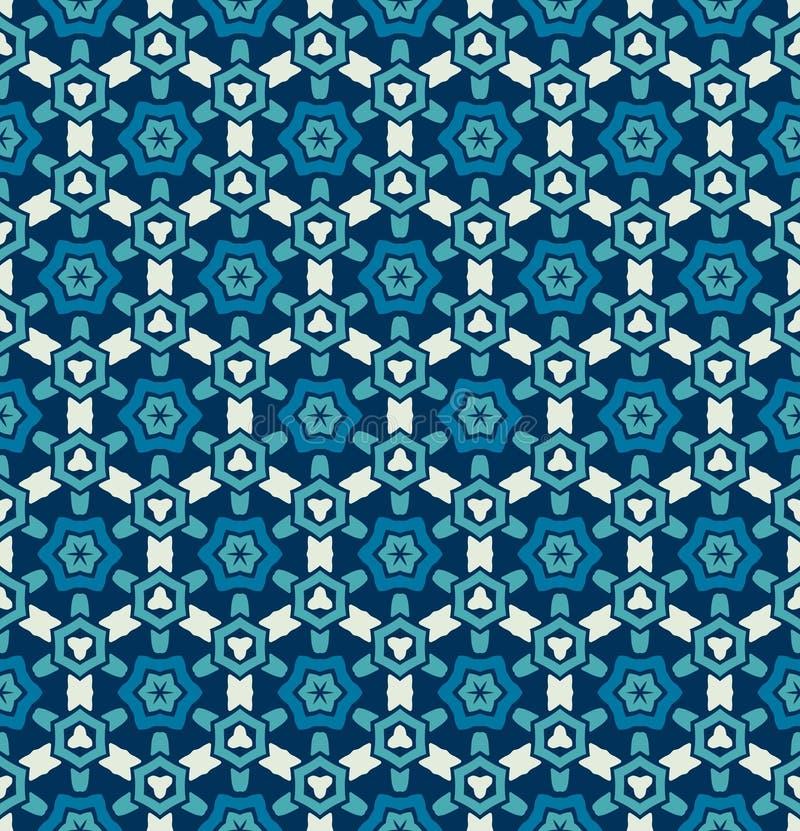Teste padrão de estrela azul geométrico abstrato ilustração royalty free