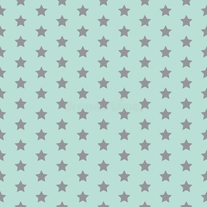 Teste padrão de estrela Cópia engraçada Fundo do bebê Ilustração do vetor com estrelas pequenas As crianças simples projetam ilustração stock