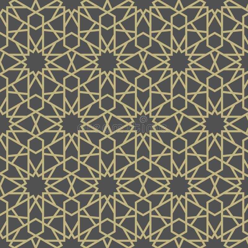 Teste padrão de estrela do Arabesque ilustração royalty free
