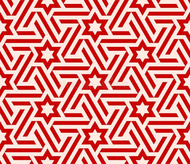Teste padrão de estrela do Arabesque ilustração stock