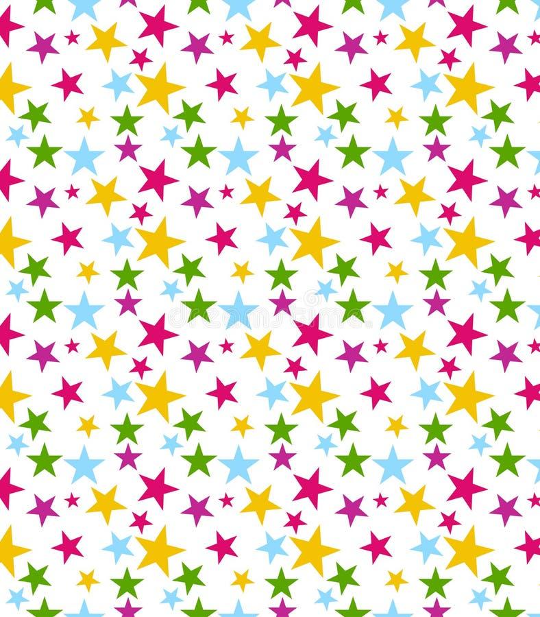 Teste padrão de estrela sem emenda ilustração royalty free