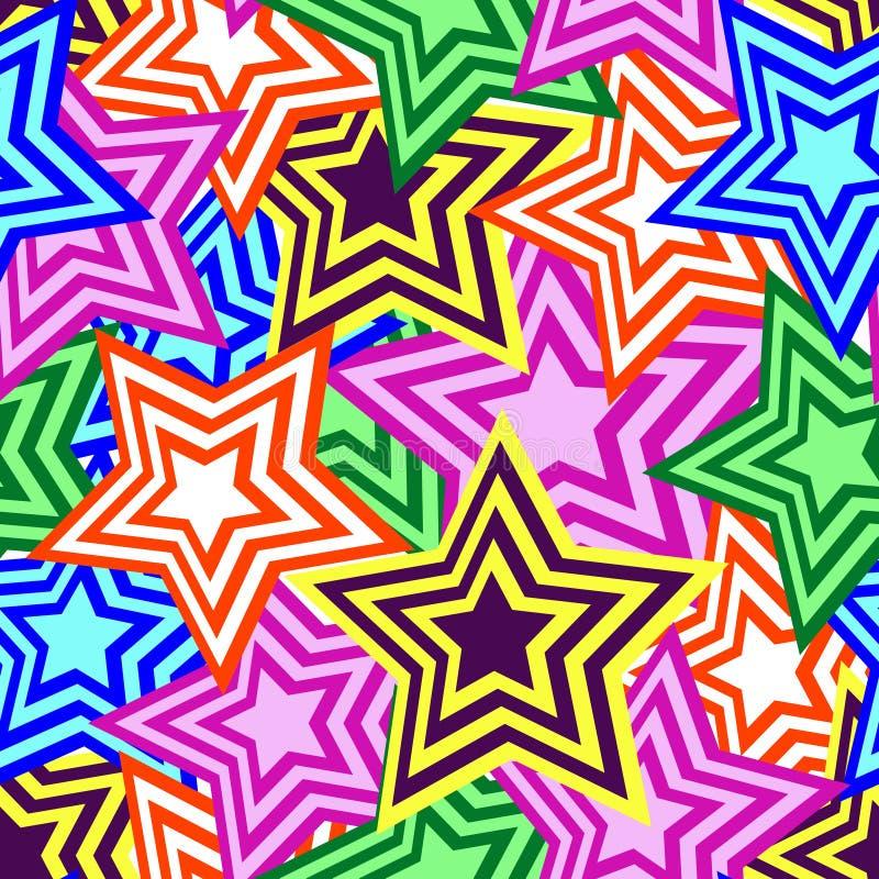 Teste padrão de estrela sem emenda ilustração do vetor