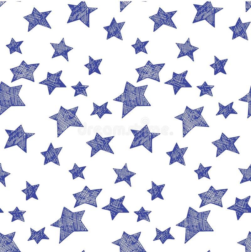 Teste padrão de estrelas ilustração royalty free