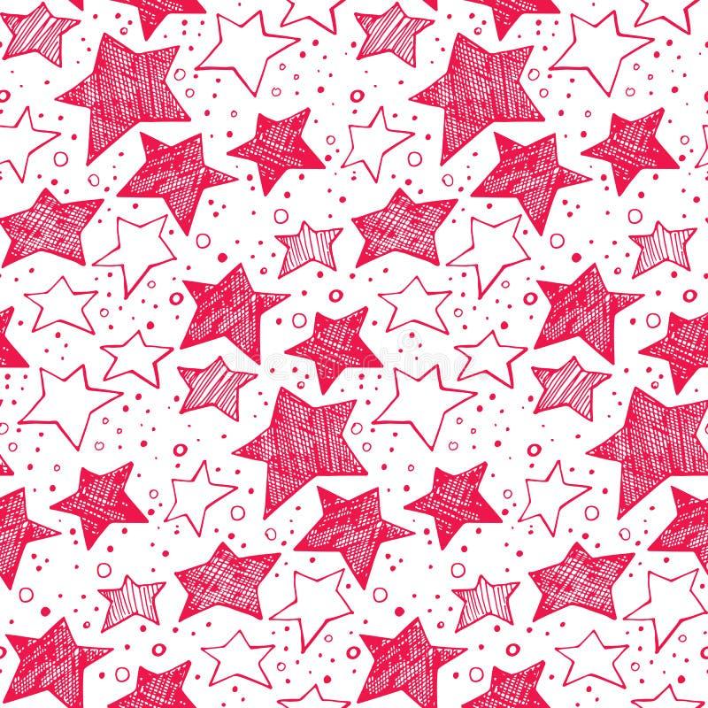 Teste padrão de estrelas ilustração do vetor