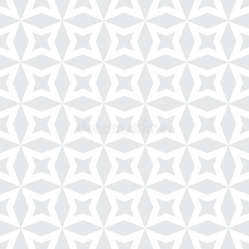 Teste padrão de estrelas abstrato moderno da geometria do vetor luz - fundo geométrico sem emenda cinzento ilustração royalty free