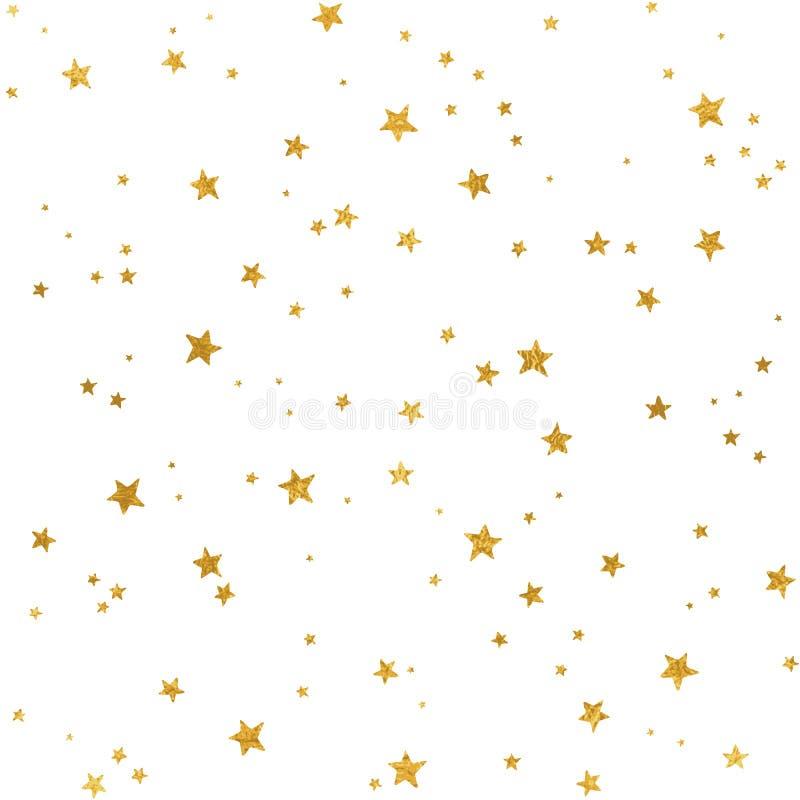 Teste padrão de estrelas do ouro ilustração do vetor
