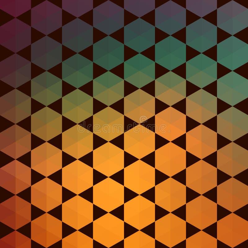 Teste padrão de fôrmas geométricas Textura com fluxo do efeito do espectro ilustração do vetor