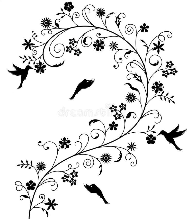 Teste padrão de flor ilustração do vetor