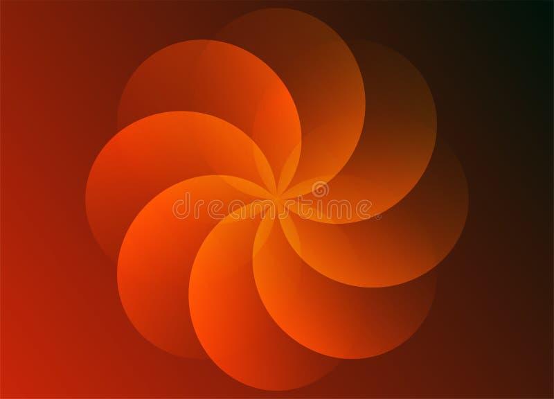 Teste padrão de flor abstrato do molde do fundo ilustração stock