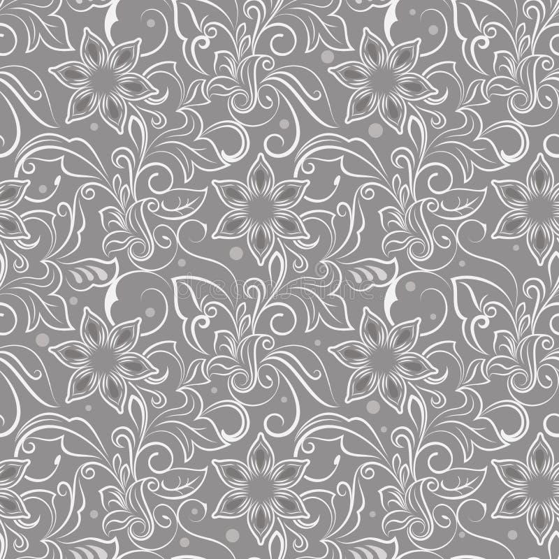 Teste padrão de flor bege sem emenda ilustração do vetor