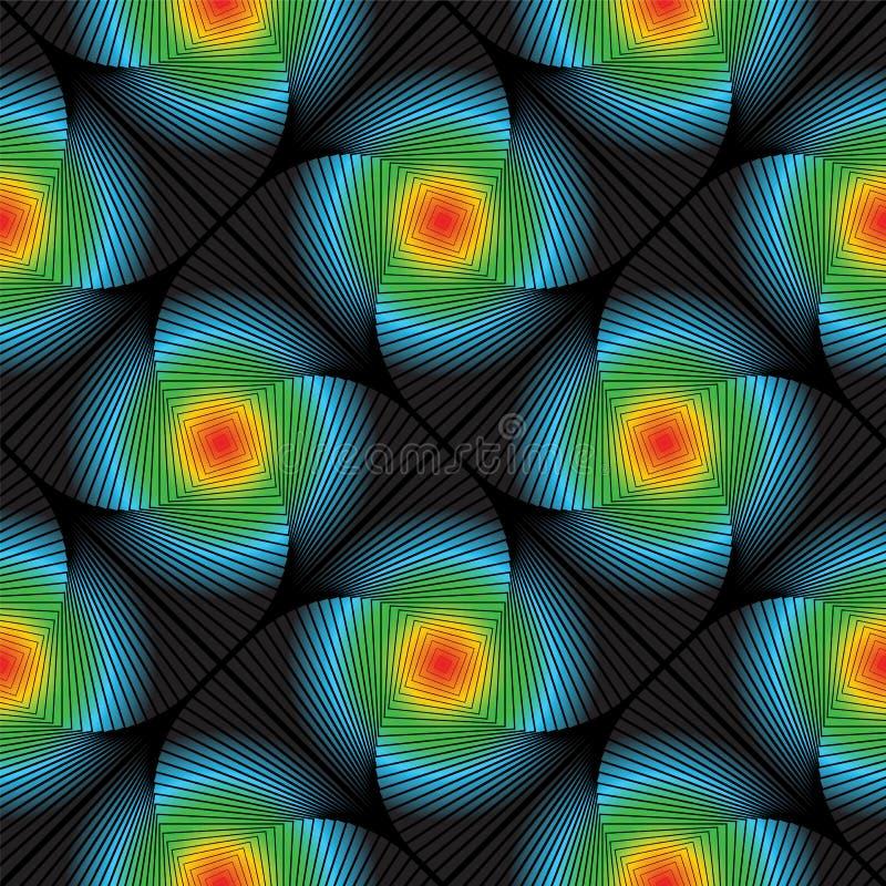 Teste padrão de flor colorido sem emenda do redemoinho do projeto ilustração stock