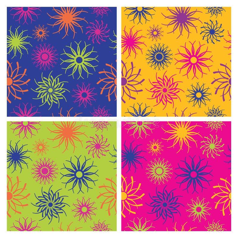 Teste padrão de flor da faísca em Brights ilustração stock