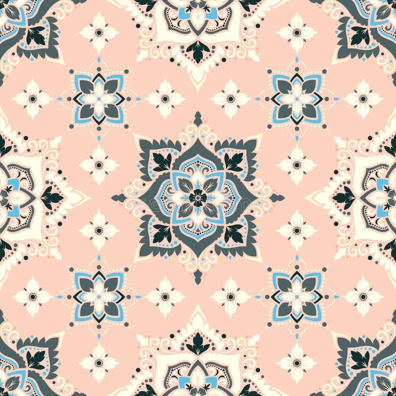 Teste padrão de flor de Boho ilustração stock