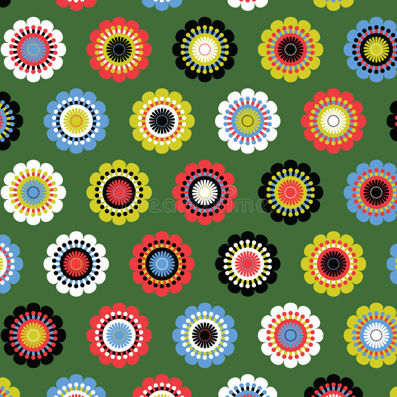 Teste padrão de flor de Seamsess ilustração stock