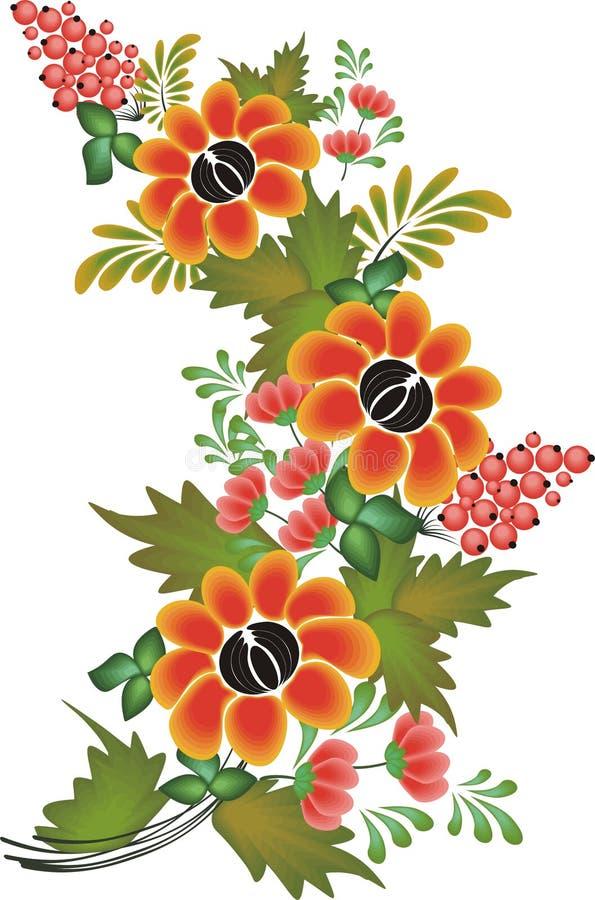 Teste padrão de flor do vetor no fundo branco ilustração do vetor