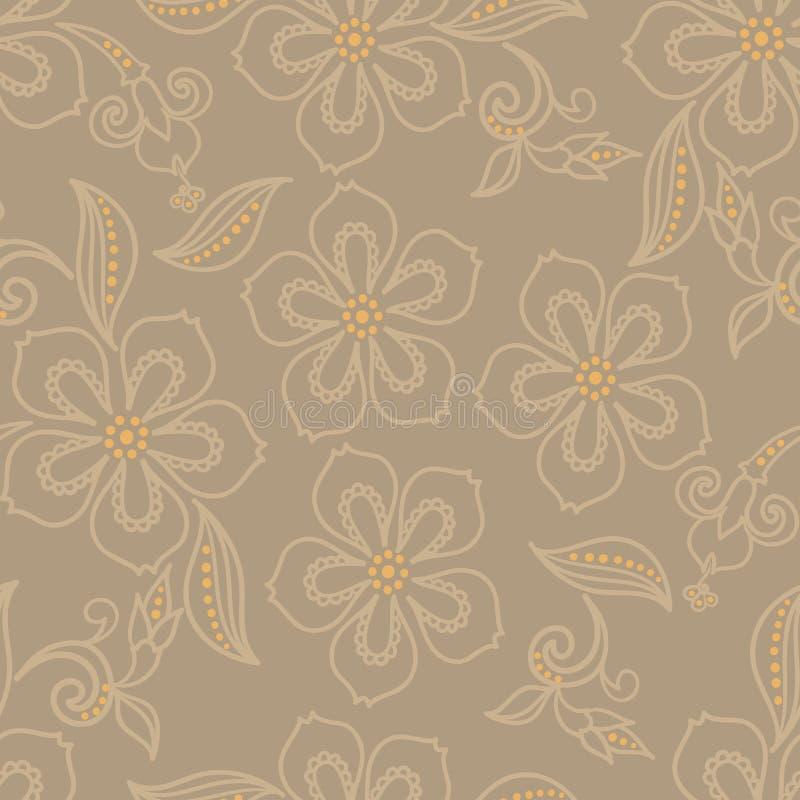 Teste padrão de flor exótico ilustração stock
