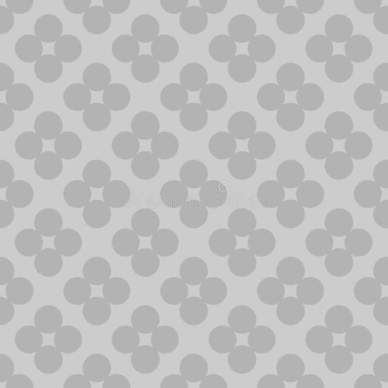 Teste padrão de flor geométrico sem emenda, bacground mínimo do estilo, ilustração de cor cinzenta - vetor ilustração stock