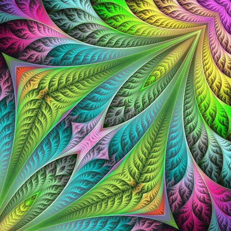 Teste padrão de flor no projeto do fractal Arte finala para o projeto, a arte e o entretenimento criativos ilustração do vetor