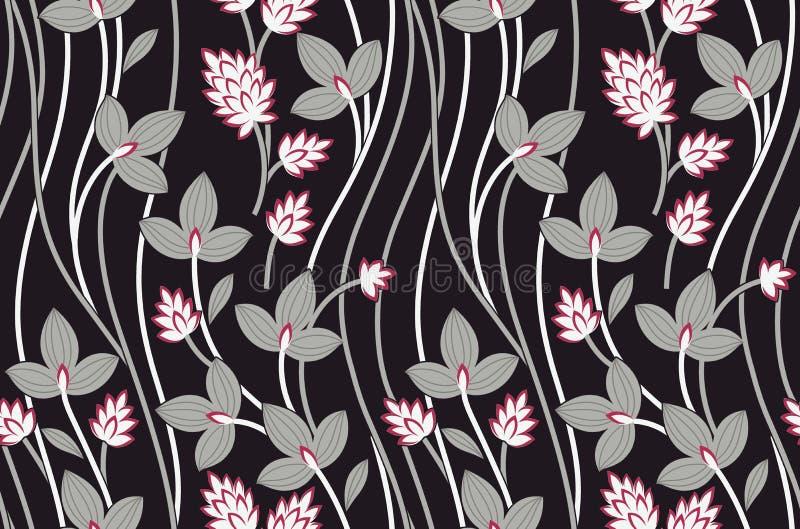 Teste padrão de flor original do vintage sem emenda ilustração do vetor