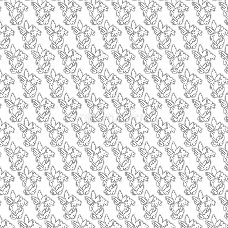 Teste padrão de flor preto e branco foto de stock