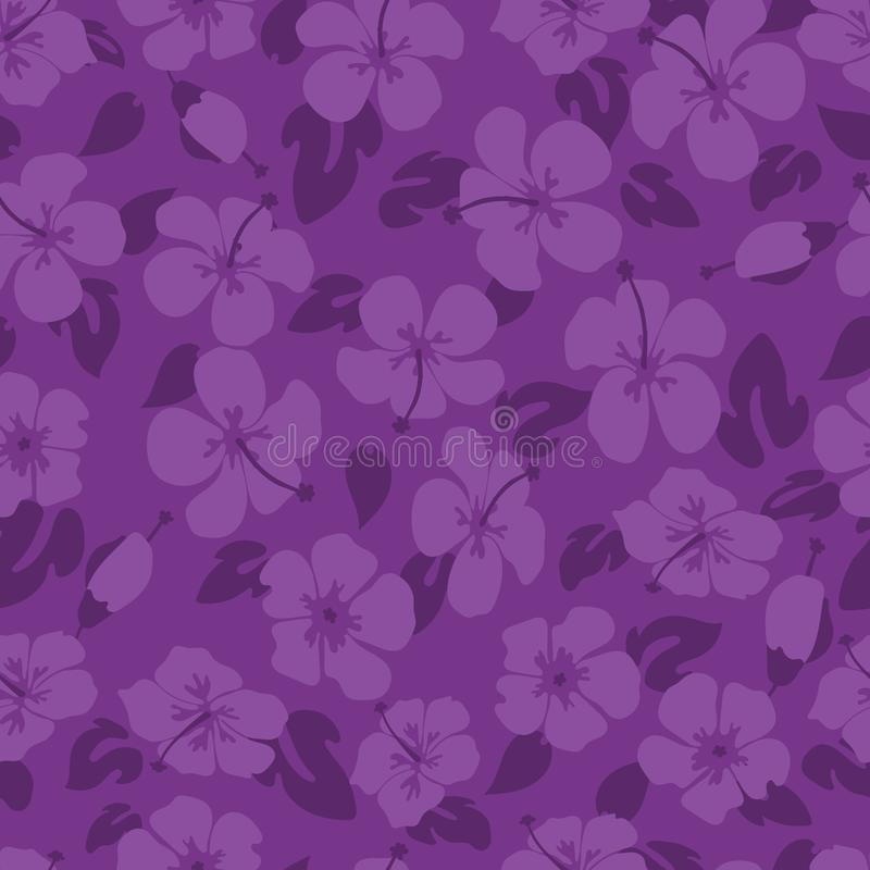 Teste padrão de flor roxo do hibiscus imagem de stock
