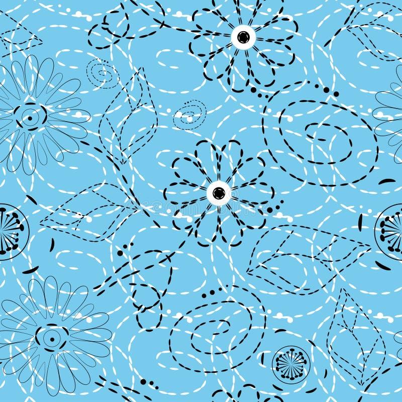 Teste padrão de flor sem emenda ilustração royalty free
