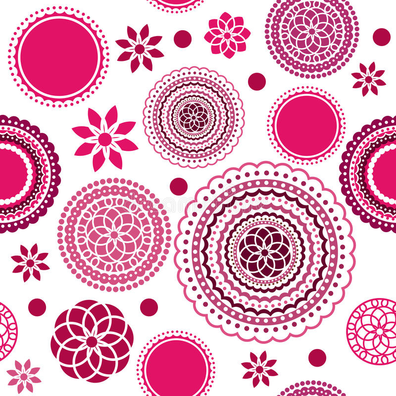 Teste padrão de flor sem emenda ilustração stock