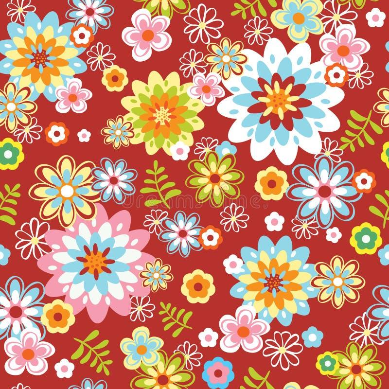 Teste padrão de flor sem emenda abstrato ilustração do vetor