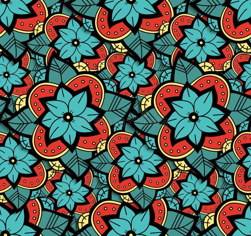 Teste padrão de flor sem emenda da cor ilustração do vetor