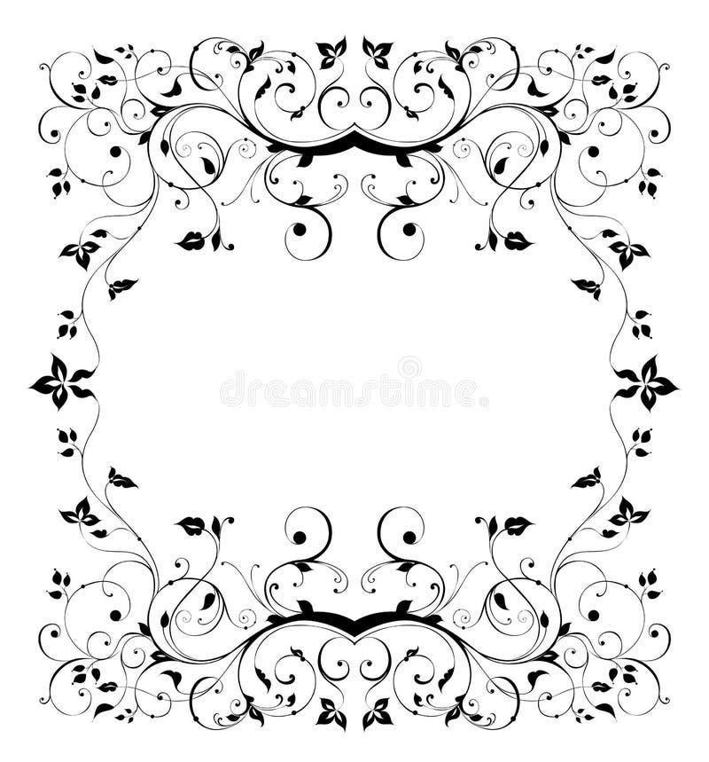 Teste padrão de flor sem emenda preto ilustração royalty free