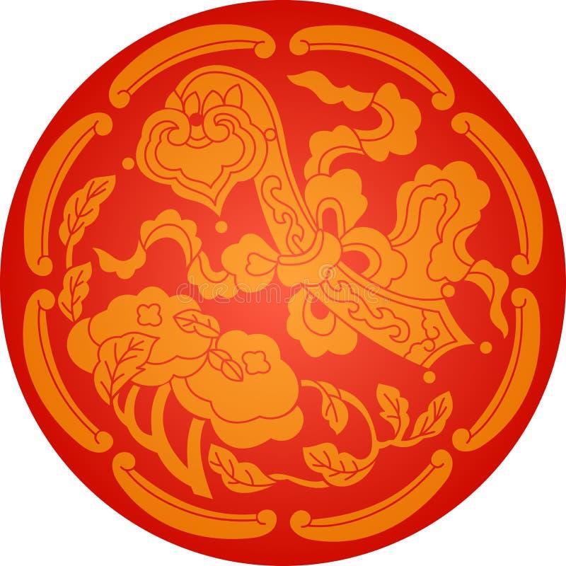 Teste padrão de flor tradicional chinês, nebuloso ilustração do vetor