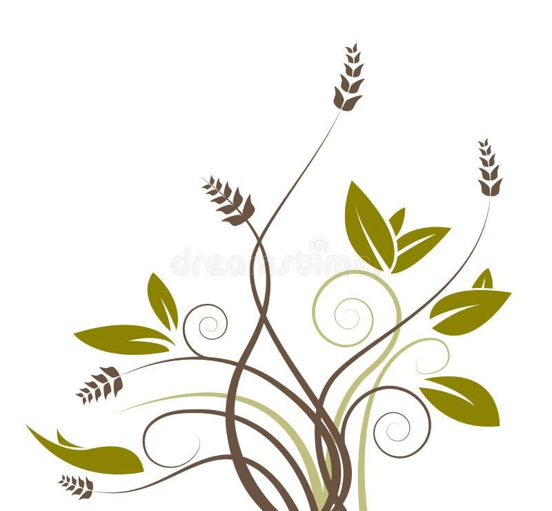 Teste padrão de flor verde ilustração stock