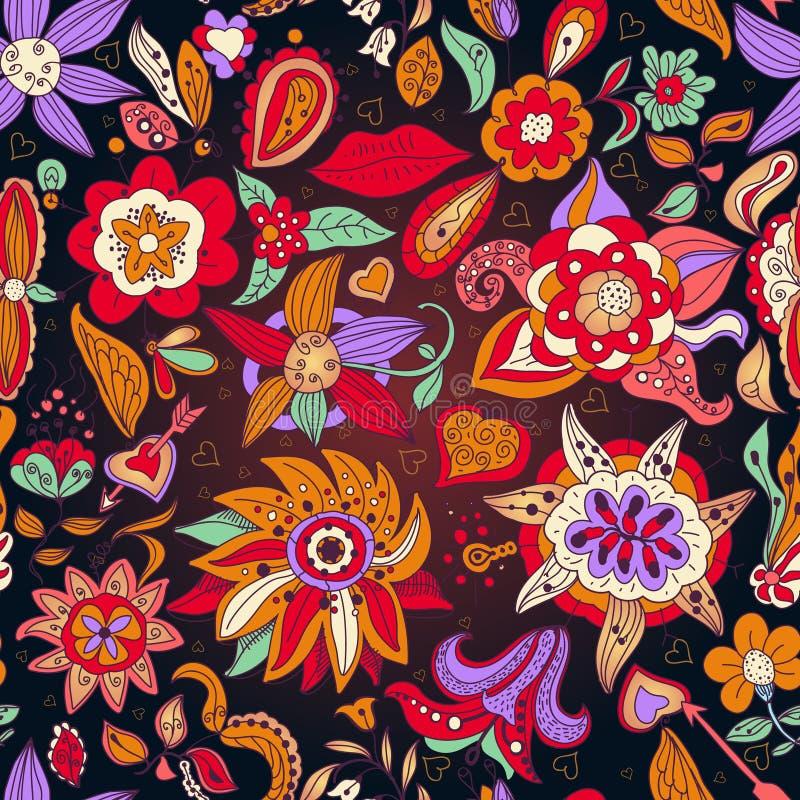 Teste padrão de flores. ilustração do vetor