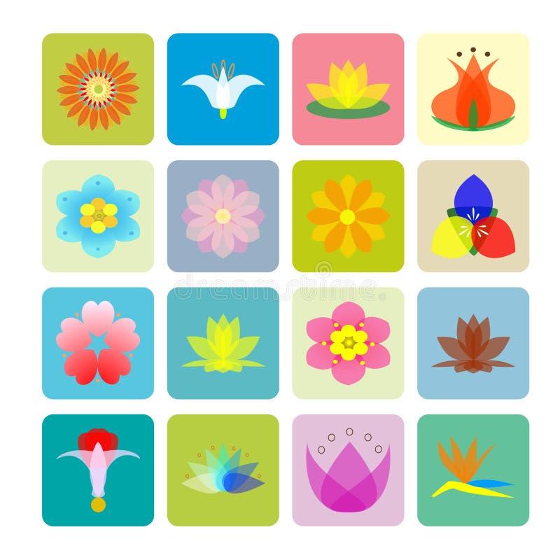 Teste padrão de flores ilustração do vetor
