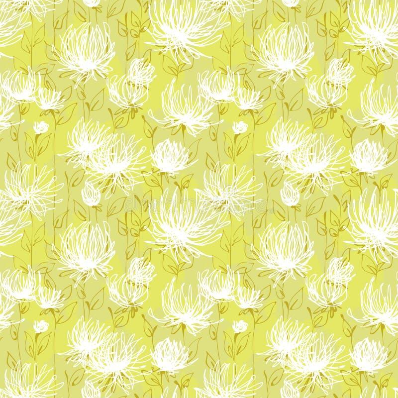 Teste padrão de flores brancas ilustração royalty free