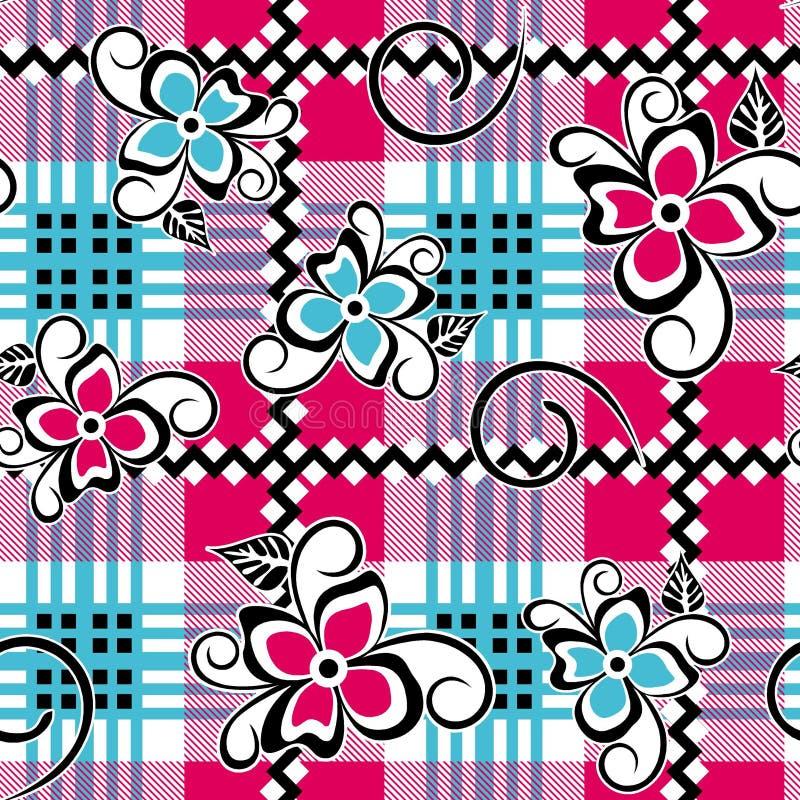 Teste padrão de flores espiral abstrato da folha fotografia de stock