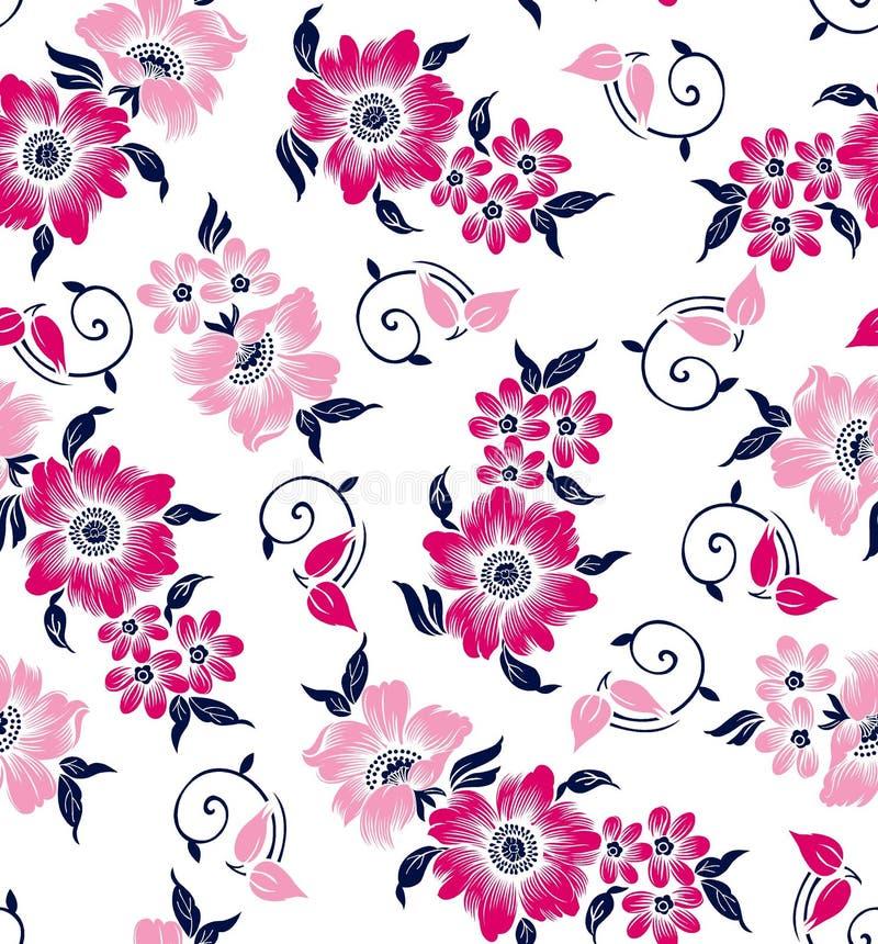Teste padrão de flores frondoso fotografia de stock