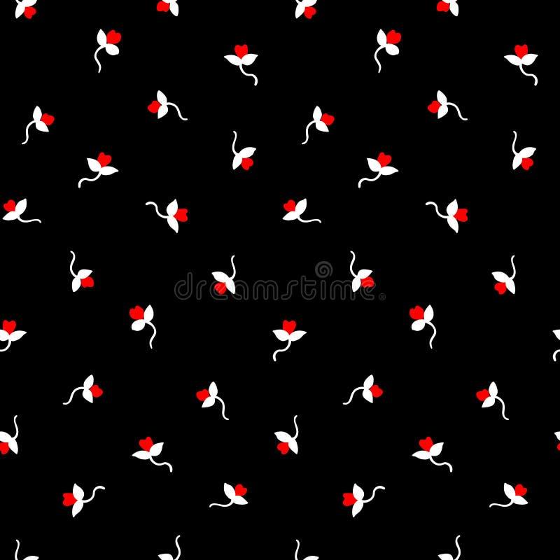Teste padrão de flores pequeno 094 imagens de stock