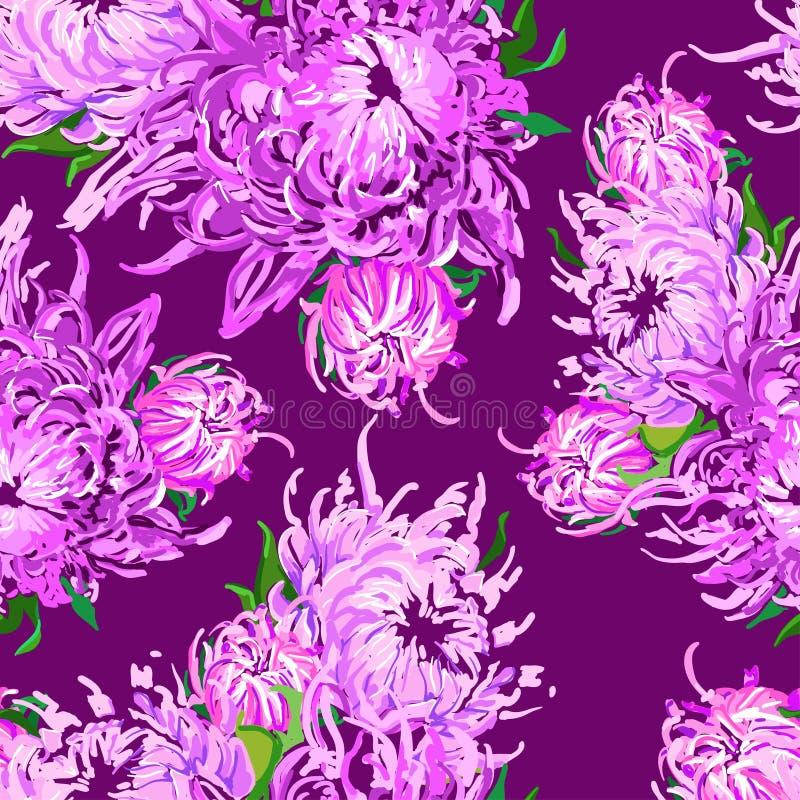 Teste padrão de flores piony ilustração stock