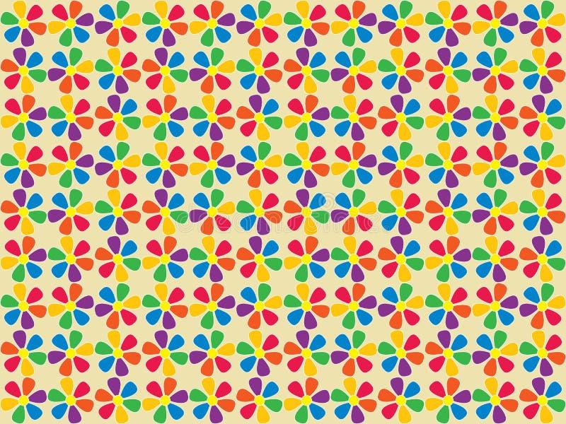 Teste padrão de flores sem emenda do espectro ilustração do vetor