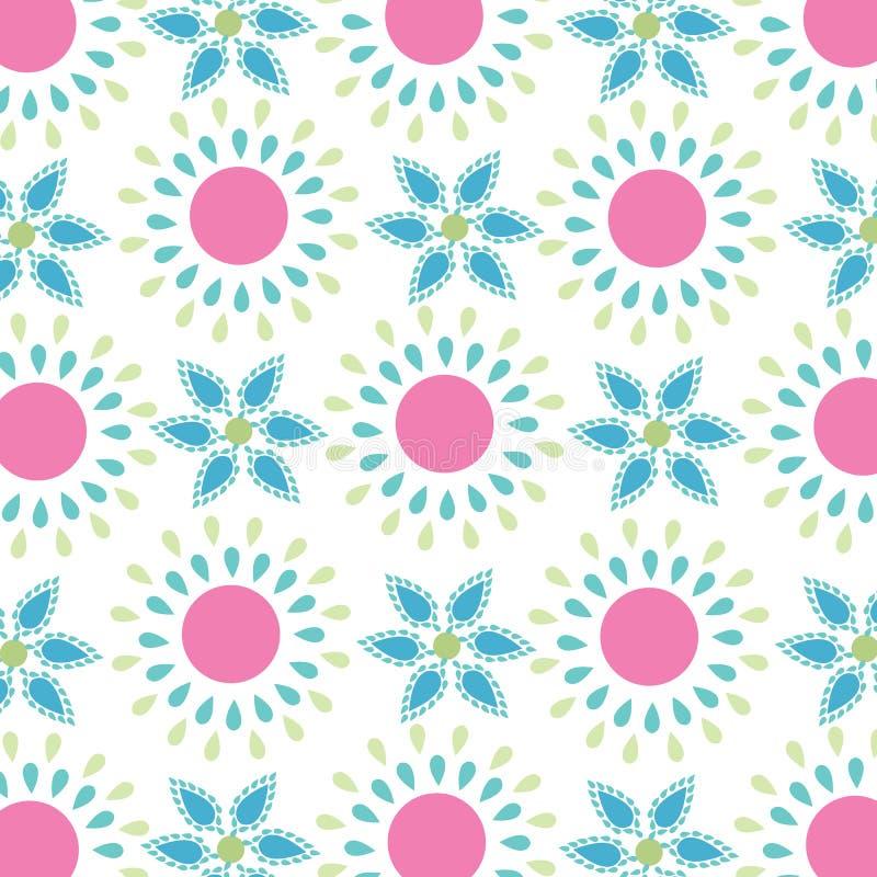 Teste padrão de flores simples sem emenda da mola ilustração stock