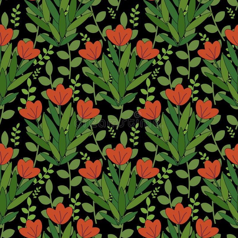Teste Padrão De Flores Vermelho Fotos de Stock