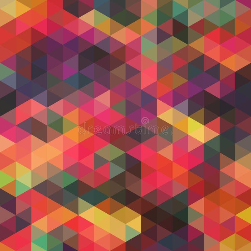 Teste padrão de formas geométricas, rhombic Textura com fluxo do spectr ilustração stock