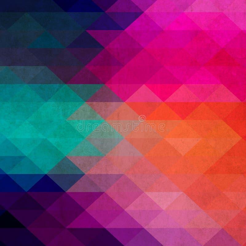 Teste padrão de formas geométricas. Textura com fluxo do efeito do espectro ilustração do vetor