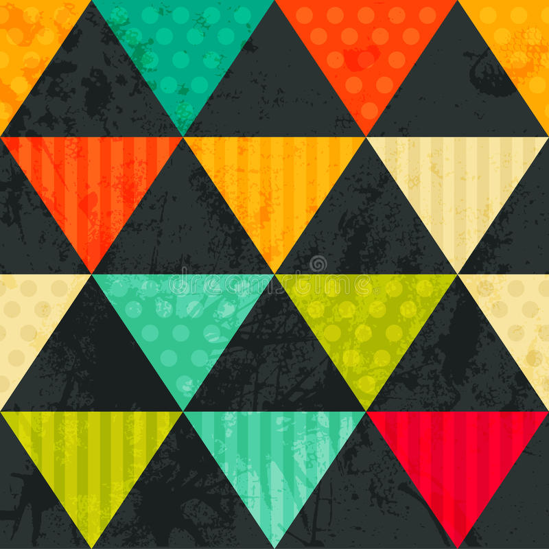 Teste Padrão De Formas Geométricas. Triangles.Texture Com Fluxo Das Especs. Ilustração Stock ...