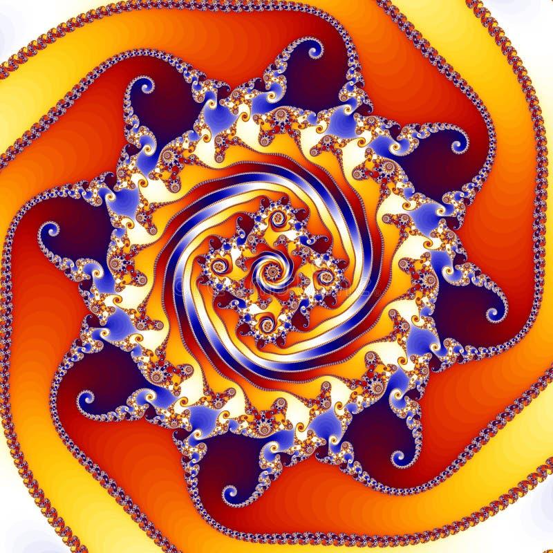 Teste padrão de giro do caleidoscópio do Fractal ilustração do vetor