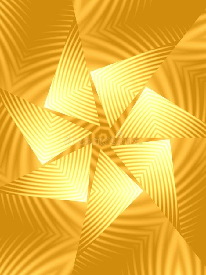 Teste padrão de giro do triângulo do ouro ilustração stock